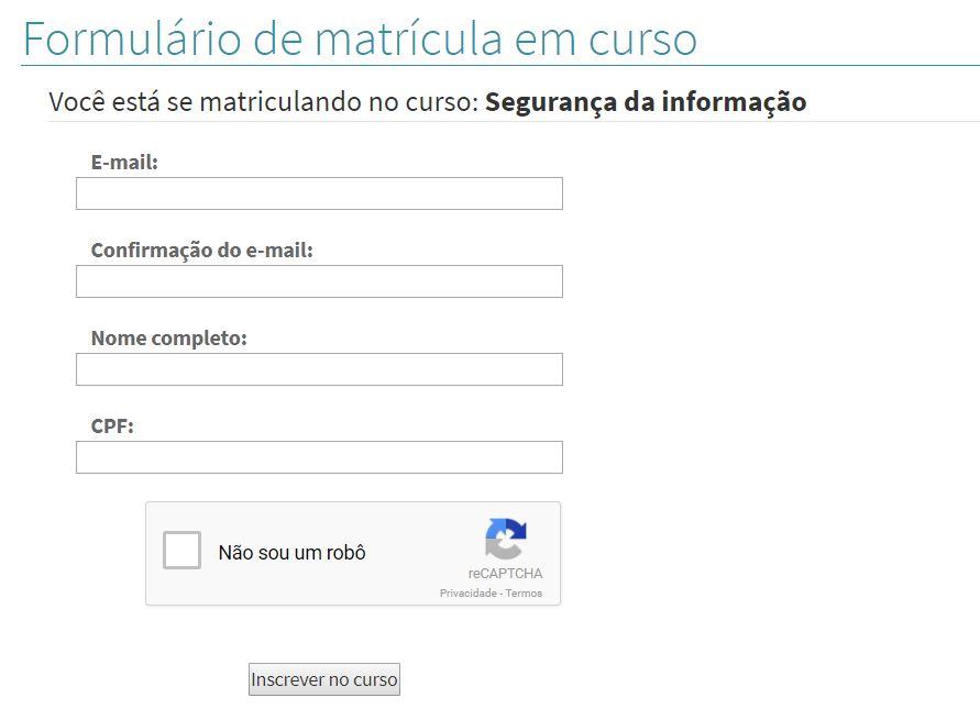 Formulário de Inscrição Escola do Trabalhador