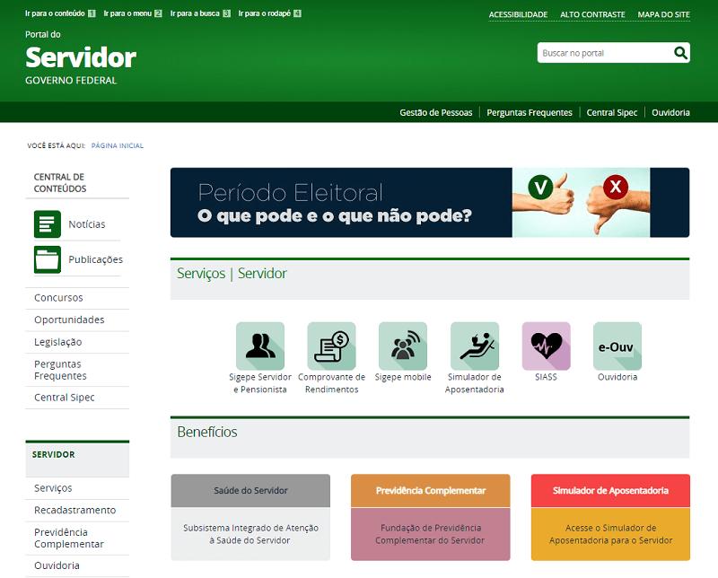 Portal do Servidor Sigepe Contracheque